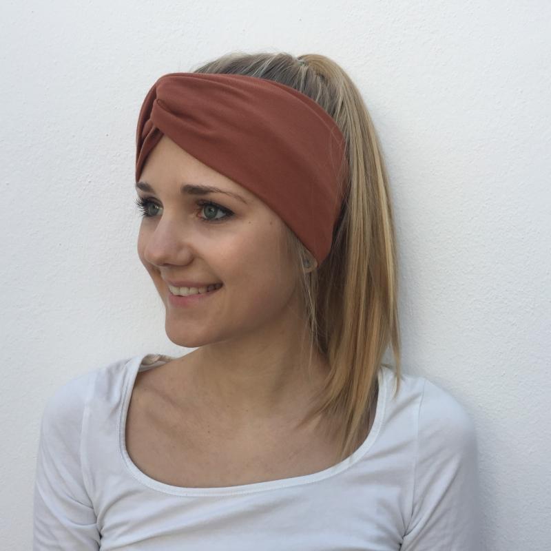 Kleinesbild - Turban Stirnband **EINFARBIG** KUPFER Haarband von zimtblüte viele Basicfarben