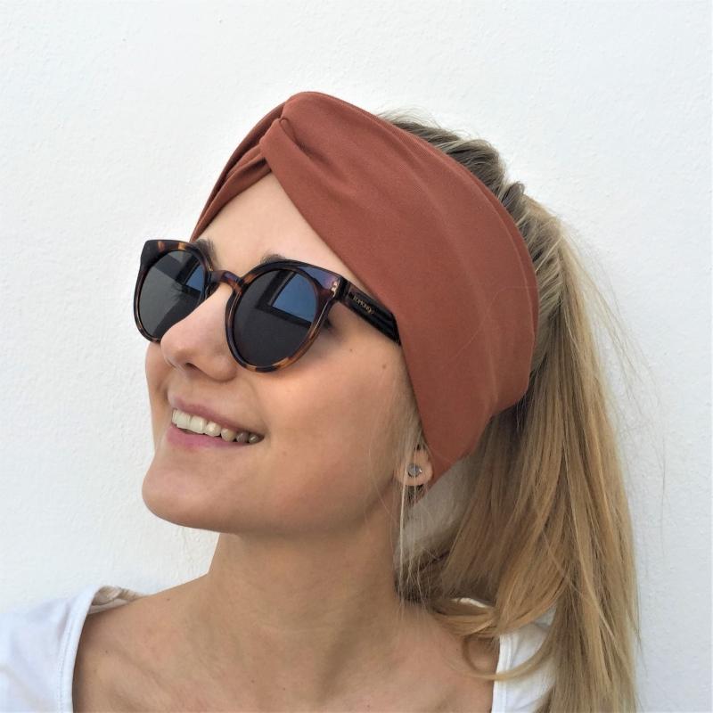 - Turban Stirnband **EINFARBIG** KUPFER Haarband von zimtblüte viele Basicfarben - Turban Stirnband **EINFARBIG** KUPFER Haarband von zimtblüte viele Basicfarben