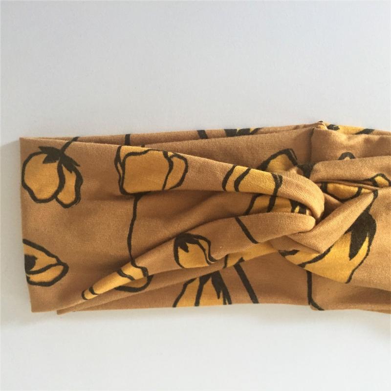 Kleinesbild - Turban Stirnband * MOHN in gelb *  Haarband Handarbeit von zimtblüte  Haarband