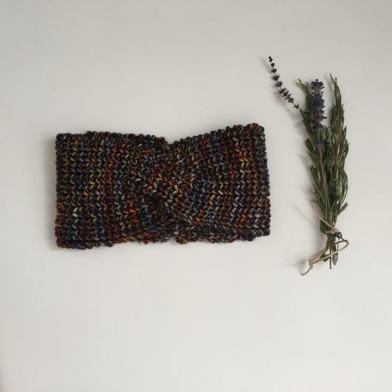 Kleinesbild - Stirnband * MARIE TWIST *  IndianSummer für Frauen Farbverlaufswolle handgestrickt von zimtblüte