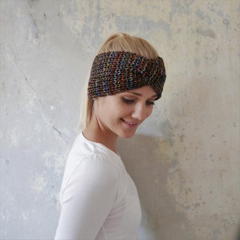 - Stirnband * MARIE TWIST *  IndianSummer für Frauen Farbverlaufswolle handgestrickt von zimtblüte    - Stirnband * MARIE TWIST *  IndianSummer für Frauen Farbverlaufswolle handgestrickt von zimtblüte