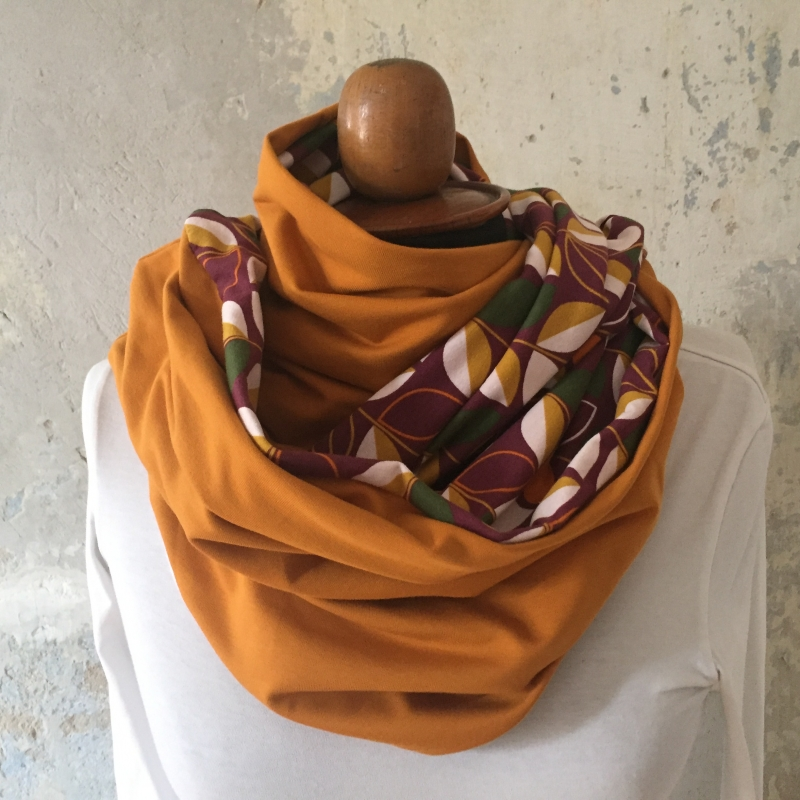 Kleinesbild - Schlauchschal  * RETRO * IndianSummer Trendfarbe 2019/2020  XL auch Stillschal von zimtblüte