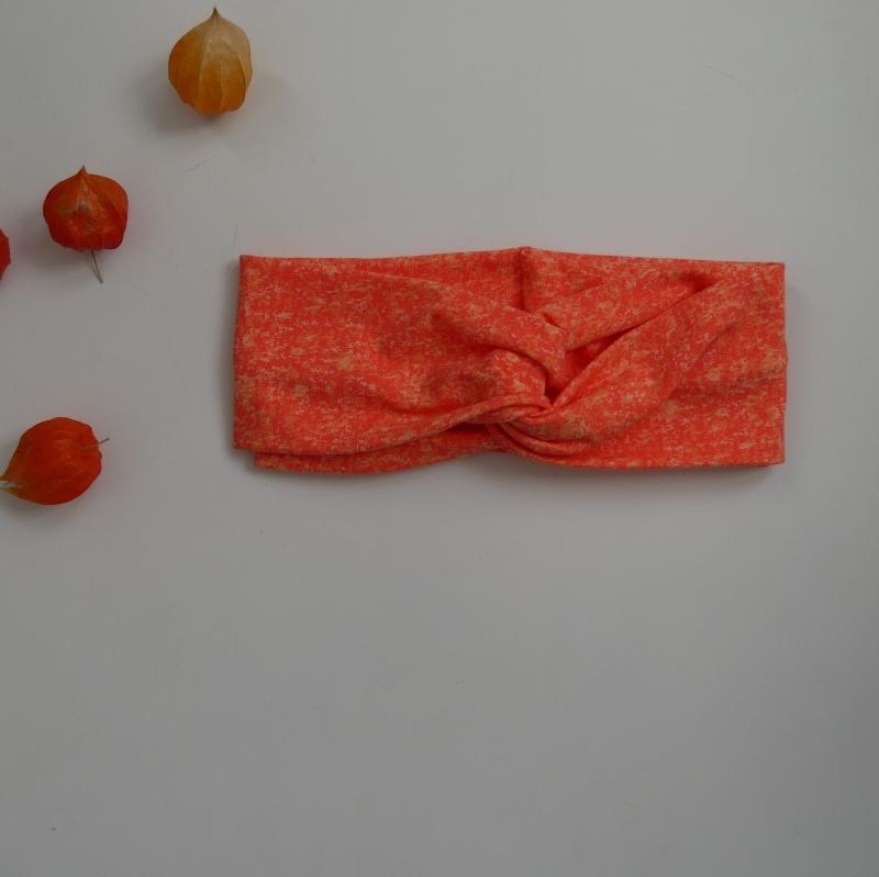 Kleinesbild - Turban Stirnband ORANGE Haarband von zimtblüte