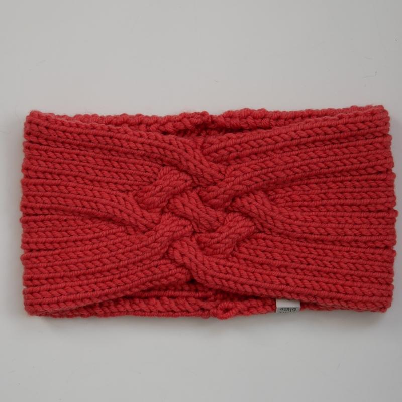 Kleinesbild - Gestricktes Stirnband *ZOE *  Handarbeit  aus Wolle von zimtblüte kürbis und andere Farben