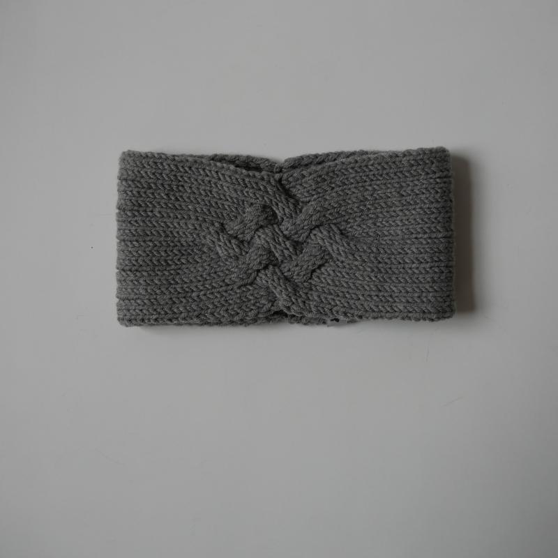 - Gestricktes Stirnband *ZOE *  Handarbeit  aus Wolle von zimtblüte grau und andere Farben   - Gestricktes Stirnband *ZOE *  Handarbeit  aus Wolle von zimtblüte grau und andere Farben