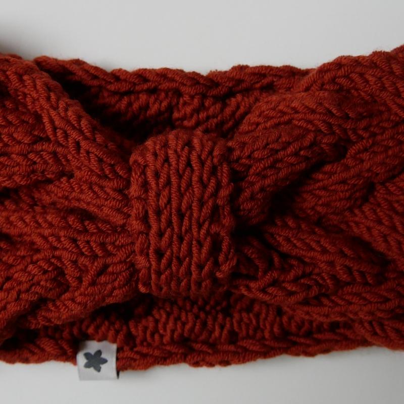 Kleinesbild - Stirnband * ANNA * rostrot von zimtblüte  handgestrickt von zimtblüte