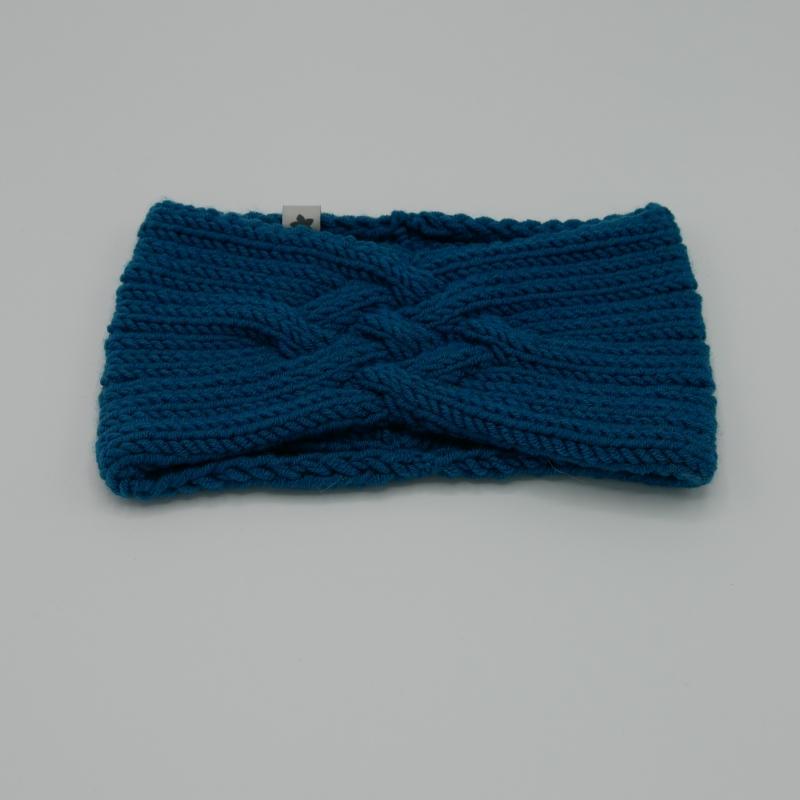 Kleinesbild - LAST MINUTE Gestricktes Stirnband *ZOE *  Handarbeit  aus Wolle von zimtblüte dunkles Petrol