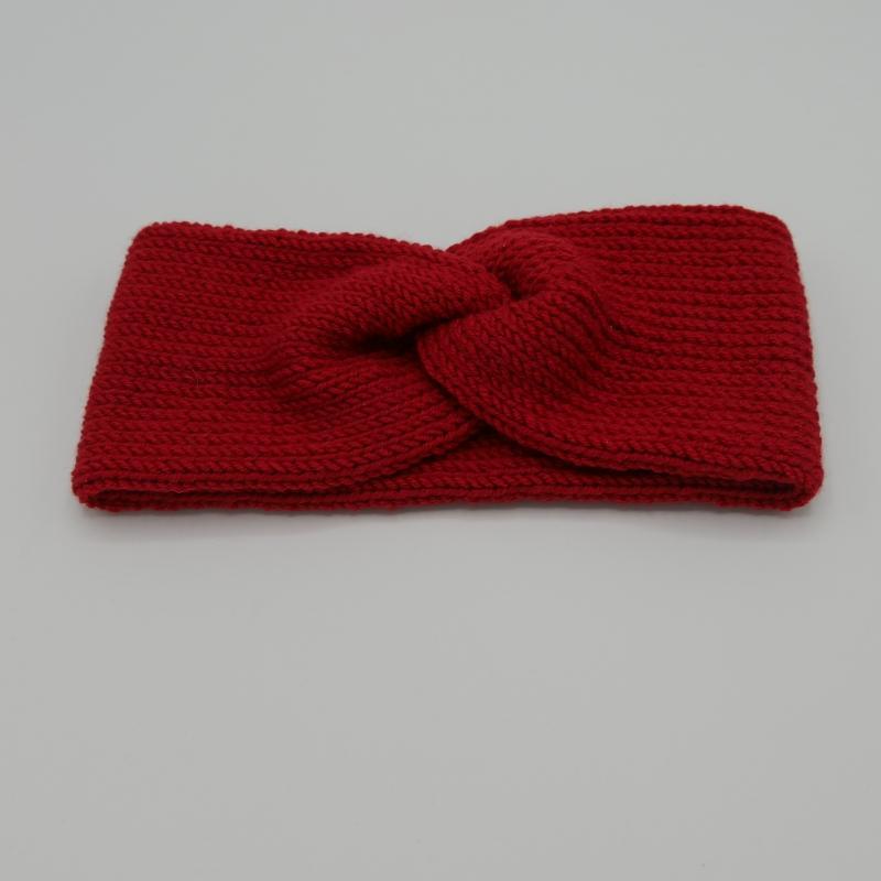 Kleinesbild - Stirnband CARO double Wolle von zimtblüte handgestrickt