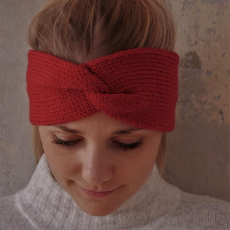 - Stirnband CARO double Wolle von zimtblüte handgestrickt  - Stirnband CARO double Wolle von zimtblüte handgestrickt