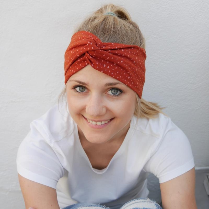 Kleinesbild - Turbanstyle Stirnband BLINGBLING mit Glitzer Handarbeit von zimtblüte  TurbanHaarband