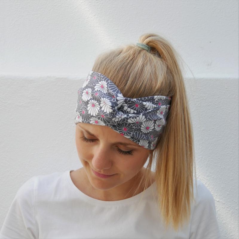 Kleinesbild - Turbanstyle Stirnband mit BELLIS Handarbeit von zimtblüte  Turban Haarband