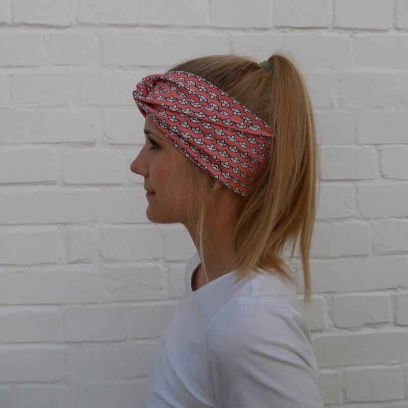 - ! SALE !Turbanstyle Stirnband SCHIFFCHEN Handarbeit von zimtblüte  Turban Haarband     - ! SALE !Turbanstyle Stirnband SCHIFFCHEN Handarbeit von zimtblüte  Turban Haarband