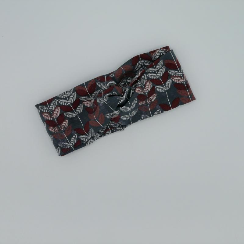 Kleinesbild - TurbanStirnband BLÄTTER Handarbeit von zimtblüte  TurbanHaarband   kaufen