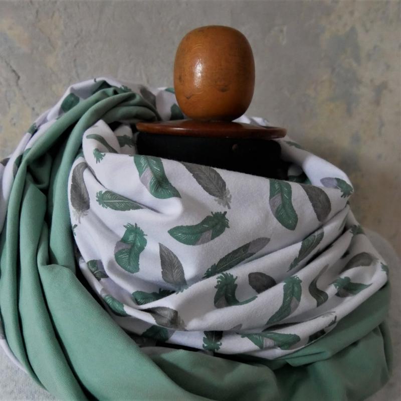 Kleinesbild - Schlauchschal mint FEDERN  XL auch Stillschal von zimtblüte   kaufen
