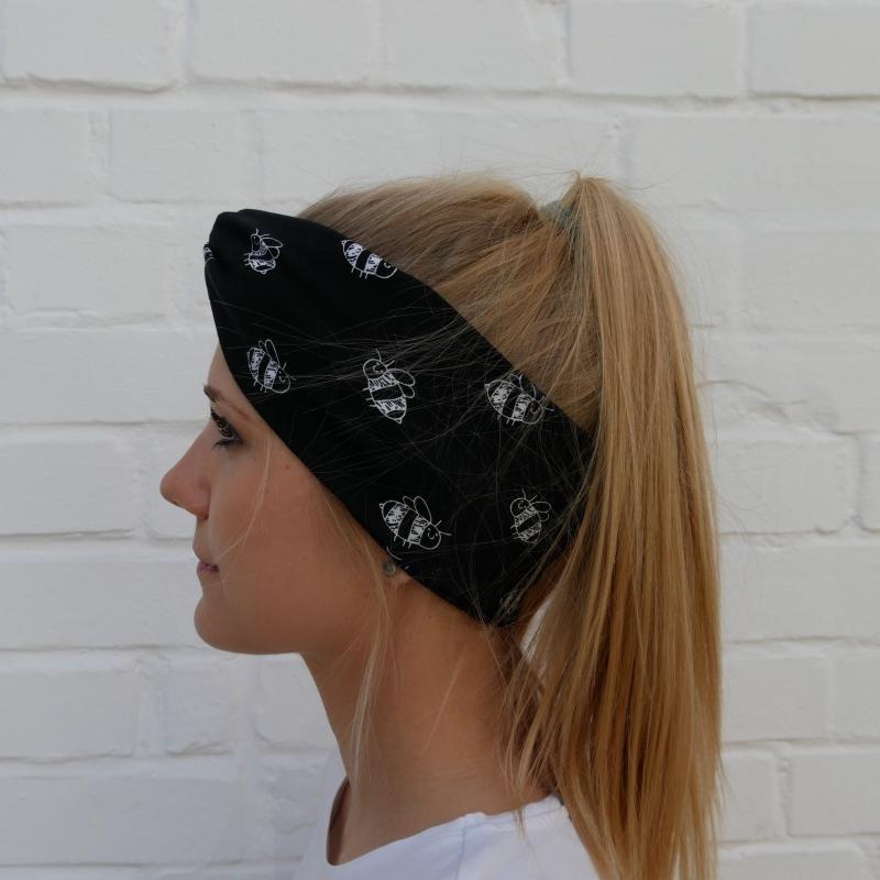 - TurbanStirnband Modell BIENE Handarbeit von zimtblüte  TurbanHaarband mit Twist kaufen   - TurbanStirnband Modell BIENE Handarbeit von zimtblüte  TurbanHaarband mit Twist kaufen