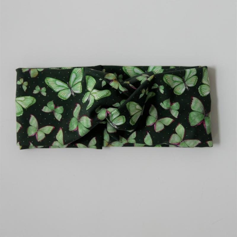 Kleinesbild - !SALE! TurbanStirnband Modell SCHMETTERLING Handarbeit von zimtblüte  TurbanHaarband mit Twist kaufen