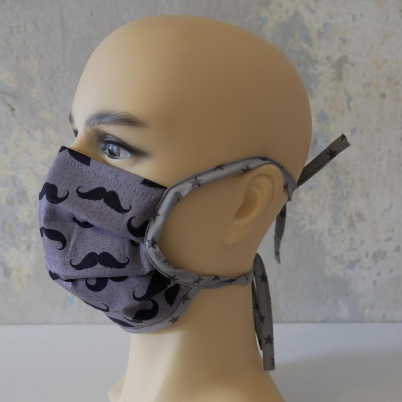 Kleinesbild - Mund-Nasen-Maske, Behelfsmaske SCHNURRBART auch für Männer von zimtblüte