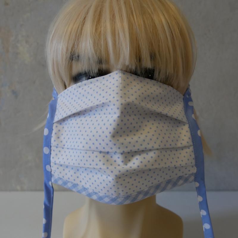 Kleinesbild - Mund-Nasen-Maske, Behelfsmaske PUNKTE für Frauen und Männer von zimtblüte