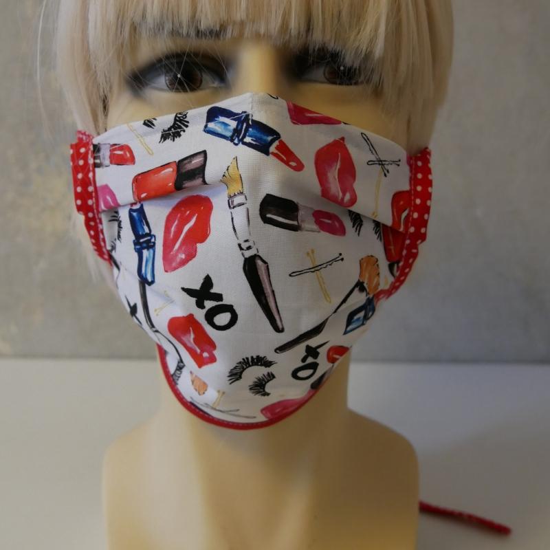 Kleinesbild - Mund-Nasen-Maske, Behelfsmaske XO für Frauen von zimtblüte