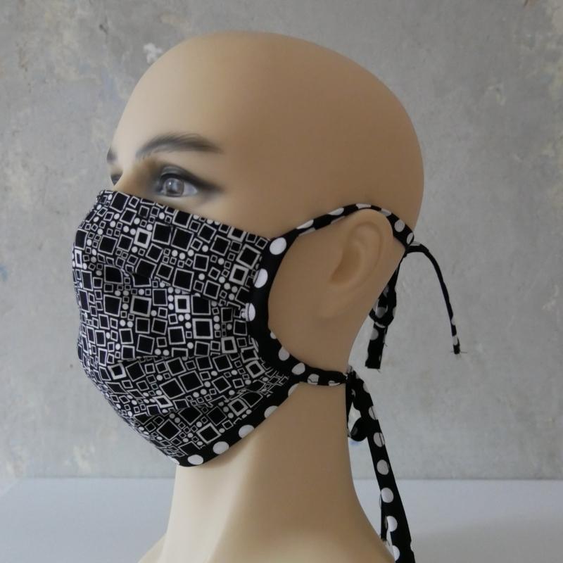 Kleinesbild - Mund-Nasen-Maske, Behelfsmaske VIERECK auch für Männer von zimtblüte