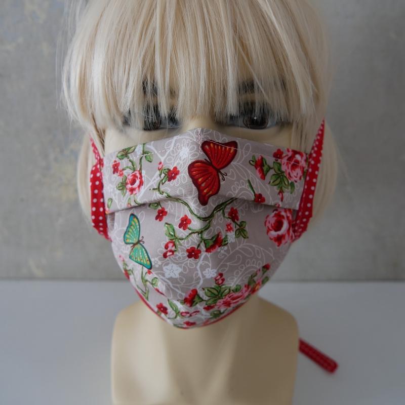 Kleinesbild - Mund-Nasen-Maske, Behelfsmaske SCHMETTERLING für Frauen von zimtblüte