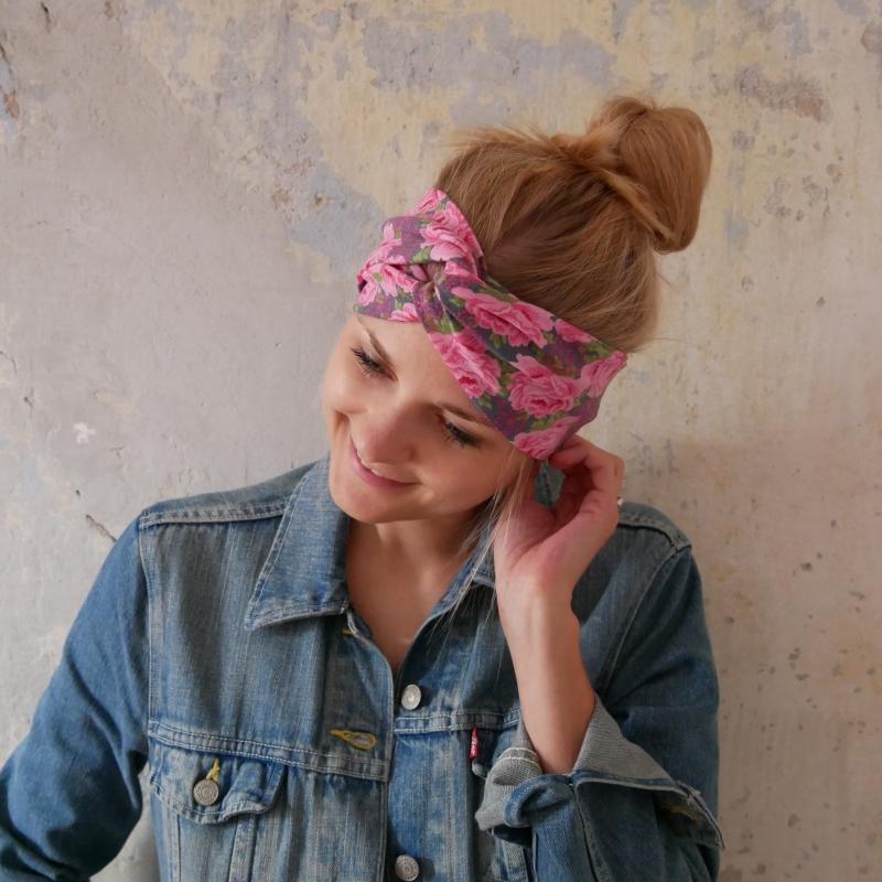 - ! SALE ! Haarband im Turbanstyle  ROSE handmade Stirnband mit Rosen von zimtbluete  - ! SALE ! Haarband im Turbanstyle  ROSE handmade Stirnband mit Rosen von zimtbluete