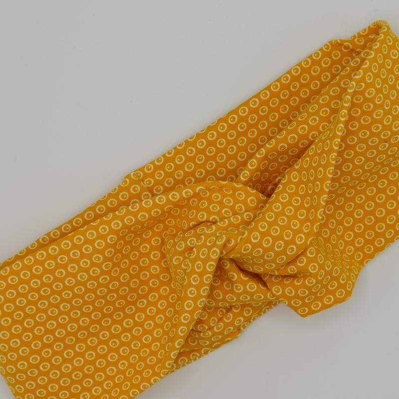 Kleinesbild - ! SALE ! GELB mit Twist Haarband im Turbanstyle von zimtblüte