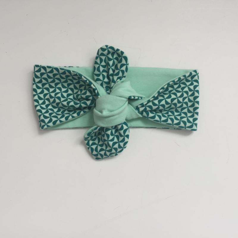 - KnotenStirnband WINDRAD Haarband  mit Schleife türkis von zimtblüte  - KnotenStirnband WINDRAD Haarband  mit Schleife türkis von zimtblüte