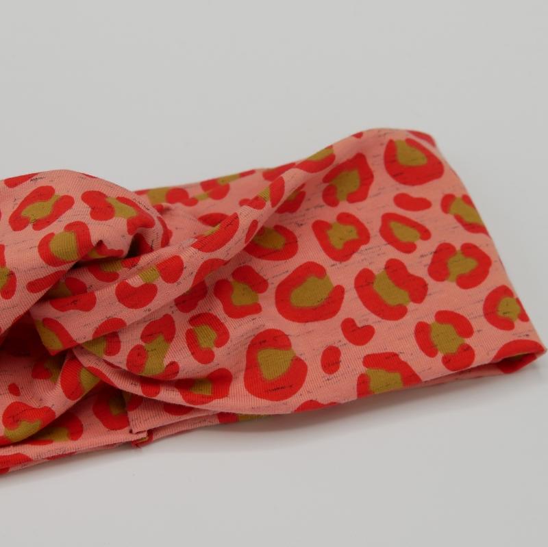 Kleinesbild - LEO TurbanStirnband im Animalprint handmade Haarband mit Twist von zimtbluete