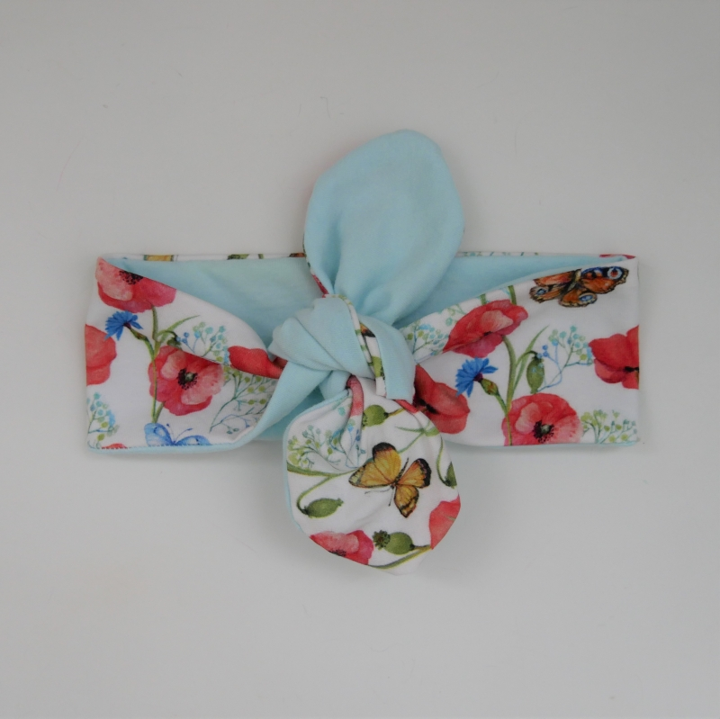 -  Haarband MOHNBLUME Stirnband mit Schleife zum Knoten von zimtblüte  -  Haarband MOHNBLUME Stirnband mit Schleife zum Knoten von zimtblüte