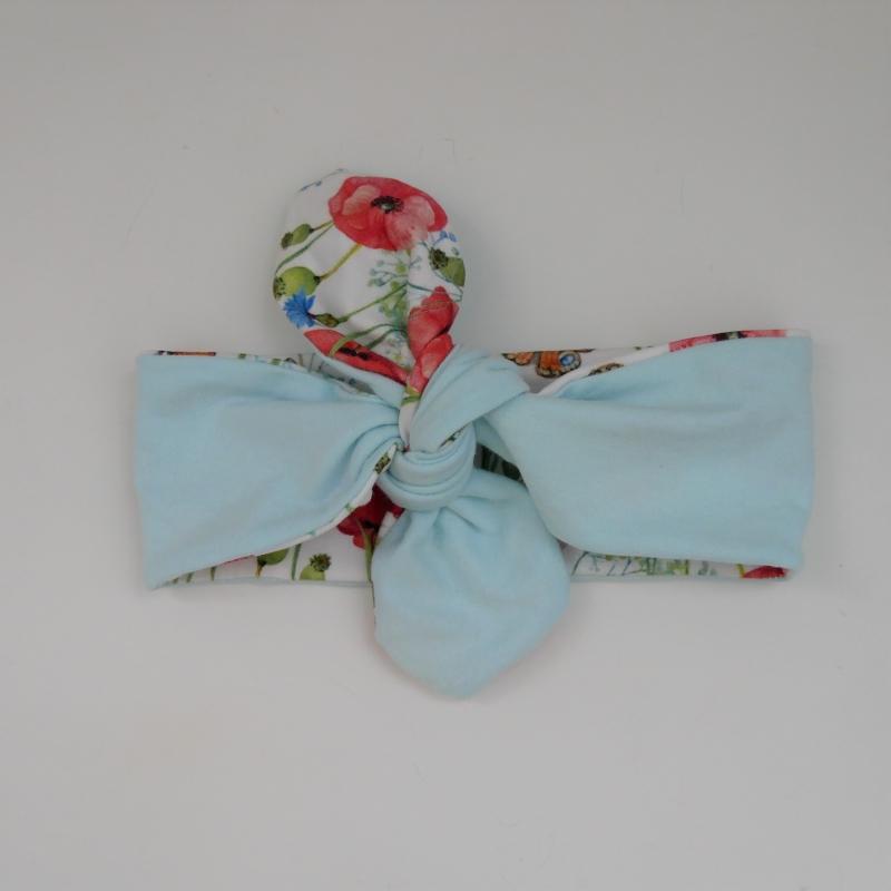 Kleinesbild -  Haarband MOHNBLUME Stirnband mit Schleife zum Knoten von zimtblüte