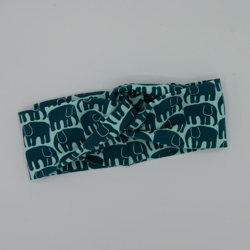 Kleinesbild - LAST MINUTE * SALE * ELEFANT Stirnband mit Twist Turbanstyle handmade Haarband in mint von zimtbluete