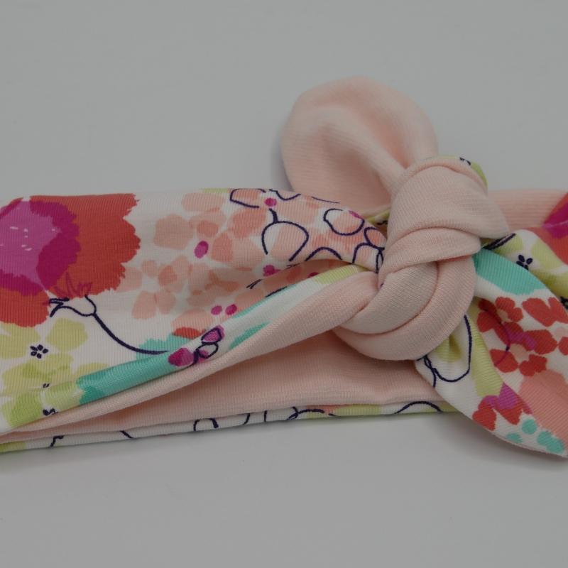 Kleinesbild - ! SALE ! PASTELL Stirnband Haarband mit Schleife zum Knoten Handmade von zimtblüte