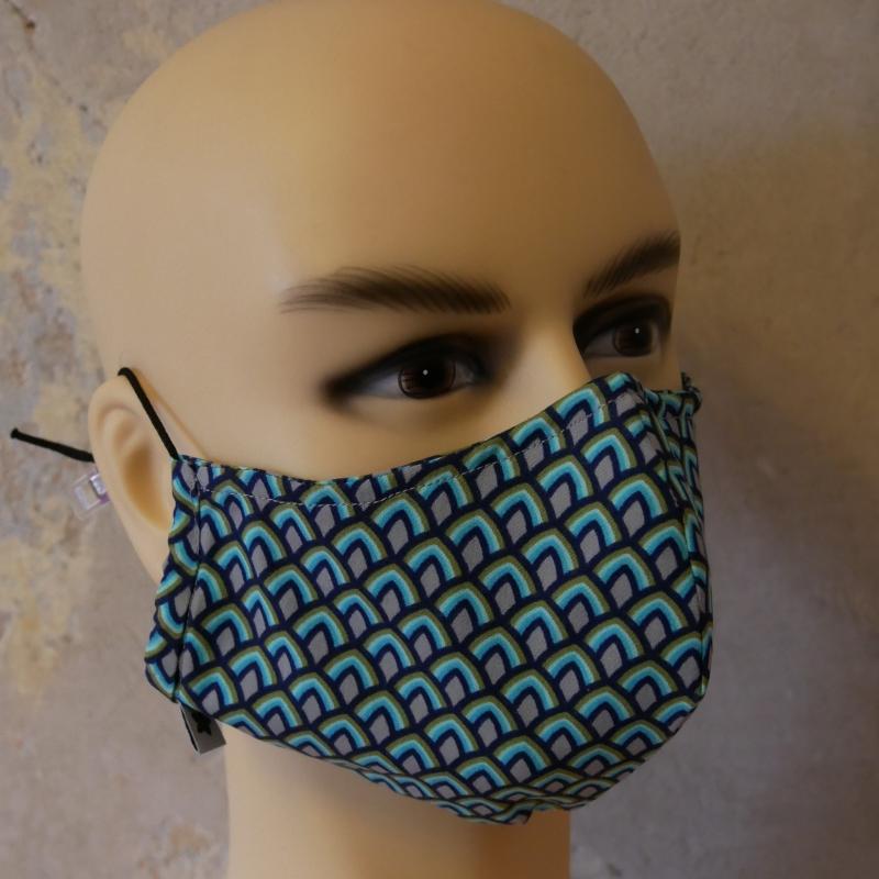 Kleinesbild - Mund-Nasen-Maske, Behelfsmaske Alltagsmaske mit Nasensteg auch für Männer von zimtblüte