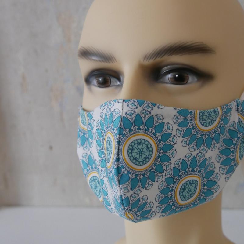 Kleinesbild - Mund-Nasen-Maske, Behelfsmaske Alltagsmaske mit Nasensteg von zimtblüte