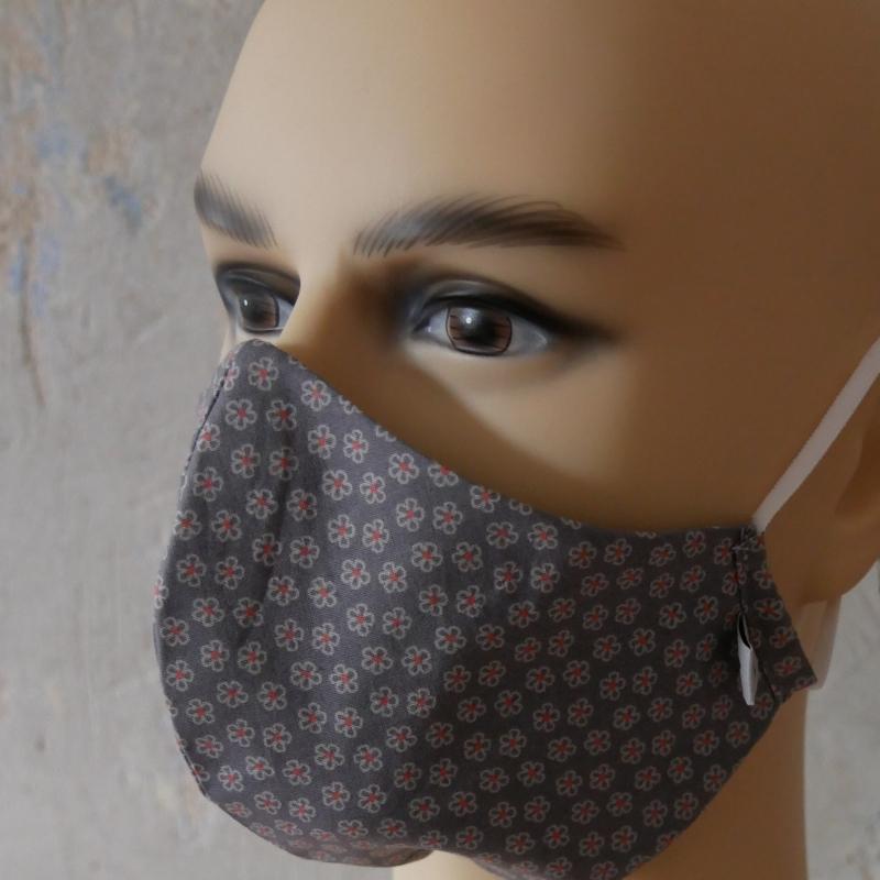 Kleinesbild - Mund-Nasen-Maske, Behelfsmaske Alltagsmaske ohne Nasensteg von zimtblüte