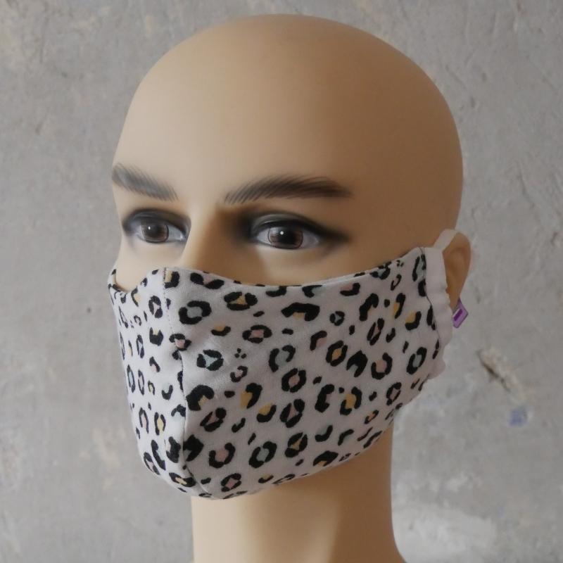 Kleinesbild - LEOPRINT Mund-Nasen-Maske, Behelfsmaske Alltagsmaske aus Musselin ohne Nasensteg von zimtblüte