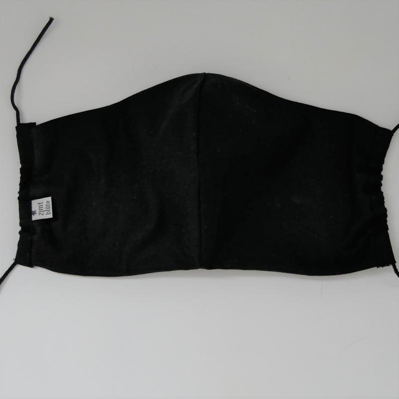 Kleinesbild - SCHWARZ Mund-Nasen-Maske, Behelfsmaske Alltagsmaske ergonomisch drei Größen von zimtblüte