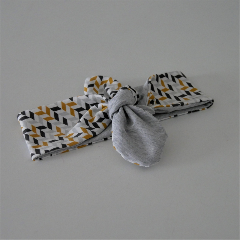 - RETRO Stirnband Haarband mit Schleife zum Knoten Handmade von zimtblüte  - RETRO Stirnband Haarband mit Schleife zum Knoten Handmade von zimtblüte