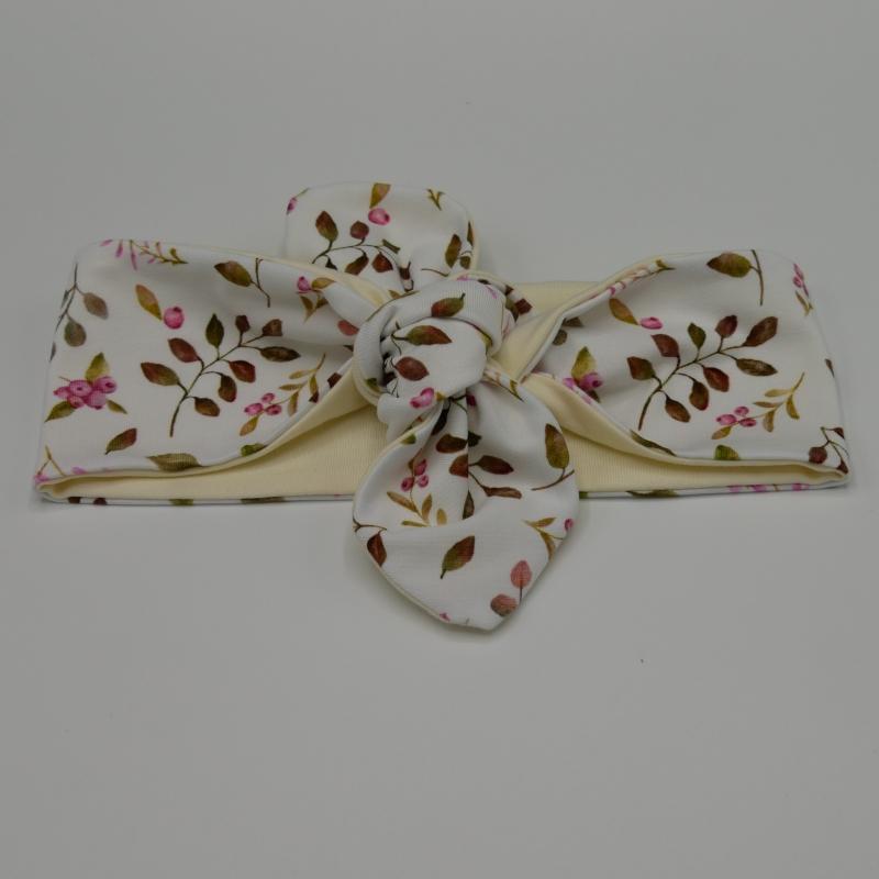 Kleinesbild - Stirnband Haarband mit BEEREN  Schleife zum Knoten Handmade von zimtblüte