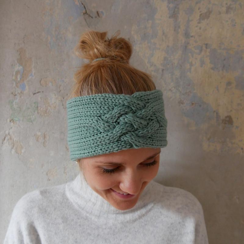 - Stirnband *ZOE *  MINZE Handarbeit  aus Wolle von zimtblüte  - Stirnband *ZOE *  MINZE Handarbeit  aus Wolle von zimtblüte