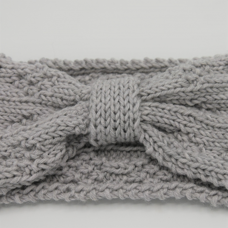 Kleinesbild -  LAST MINUTE Stirnband in GRAUmelange aus Wolle handgestrickt  von zimtblüte