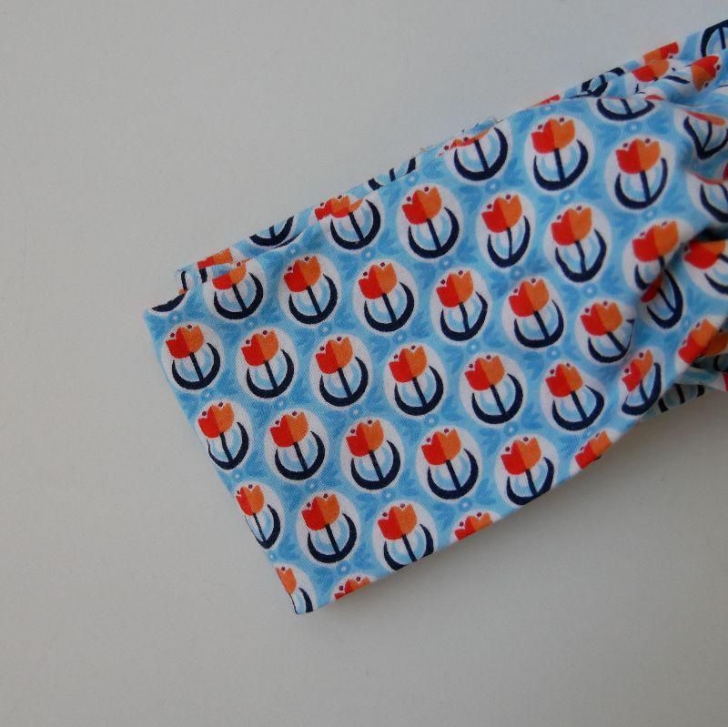 Kleinesbild - Turbanstirnband mit TULPEN Stirnband Knoten Twist handmade Haarband von zimtbluete