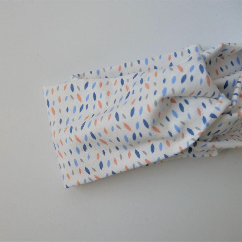Kleinesbild - TurbanStirnband Modell SPRENKEL Handarbeit von zimtblüte  TurbanHaarband mit Twist kaufen