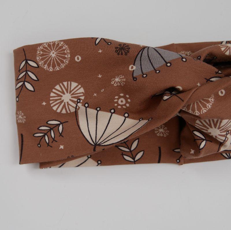 Kleinesbild - Turban Stirnband mit SCHIRMCHEN Handarbeit von zimtblüte Haarband   kaufen