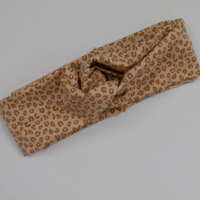 - Stirnband im trendy Turbanstyle LEO sand Handarbeit von zimtblüte Haarband  BIOBaumwolle - Stirnband im trendy Turbanstyle LEO sand Handarbeit von zimtblüte Haarband  BIOBaumwolle