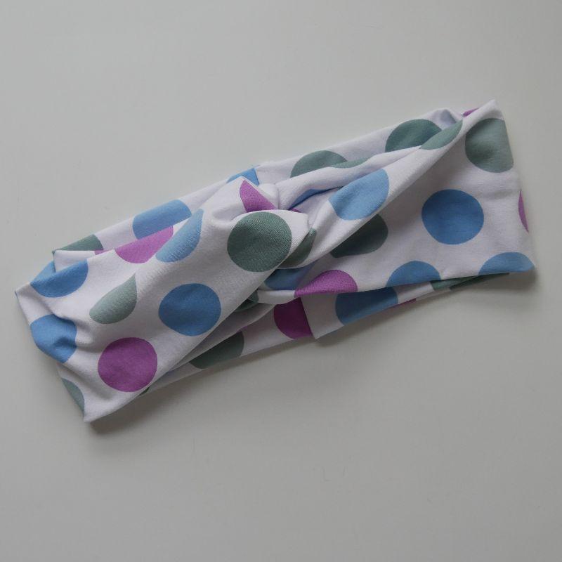 Kleinesbild - Stirnband mit Twist POLKADOTS von zimtblüte im Turbanstyle handmade