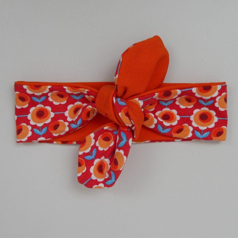 - Stirnband Haarband mit BLUMEN Schleife zum Knoten Handmade von zimtblüte  - Stirnband Haarband mit BLUMEN Schleife zum Knoten Handmade von zimtblüte