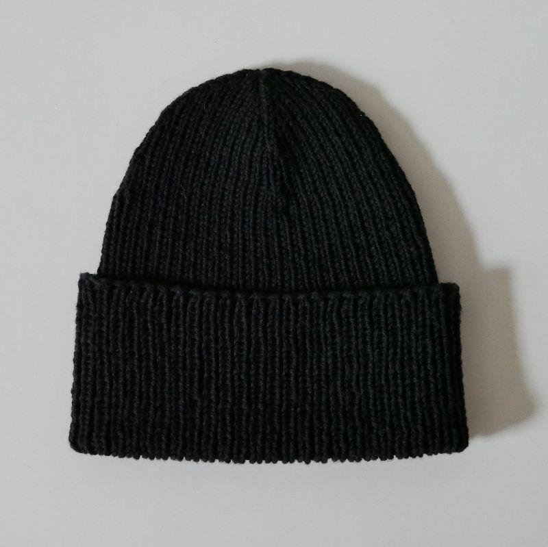 Kleinesbild - Mütze ANTON schwarz Fischermütze handgestrickt für Männer von zimtblüte