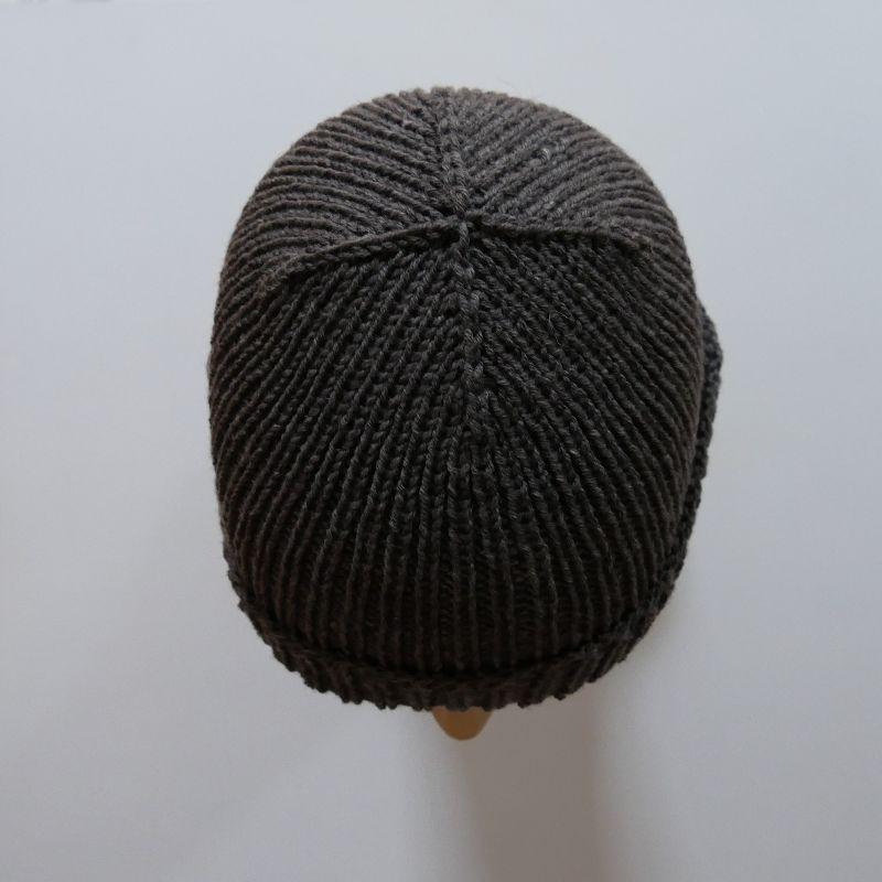 Kleinesbild - Mütze ANTON anthrazit Fischermütze handgestrickt für Männer von zimtblüte